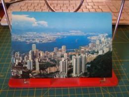 149376 FROM HONG KONG BIRD EYE'S VIEW OF HONG KONG & KOWLOON PENINSULA - Cina (Hong Kong)