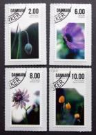 Denmark 2011 FLOWERS  Minr.1654-57 A    (O)  ( Lot  D  860 ) - Danimarca