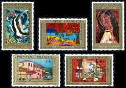 POLYNESIE 1975 - Yv. PA 98 99 100 101 Et 102 **   Cote= 55,00 EUR - Tableaux D'Artistes Polyn. (5 Val.)  ..Réf.POL24403 - Poste Aérienne