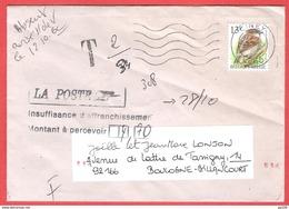 BUZIN Sur L   Insuffisament Affranchie De CINEY Vers FRANCE - Portomarken