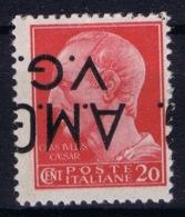 Italy:   AMG-VG  Sa 4 D Soprastampa Capovolta  MH/* Flz/ Charniere Inverted Overprint Signiert /signed/ Signé - Ongebruikt