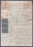 Manuscrit De 1886.Joseph Dilnue,Consructeur De Puits à Servian,contre Mireval,Limonadier à Balaruc-les-Bains.Copies 50c - Manuscritos