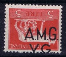 Italy: AMG-VG Sa 10 D Soprastampa Capovolta Postfrisch/MNH/** Inverted Overprint Signiert /signed/ Signé  2x - Nuovi