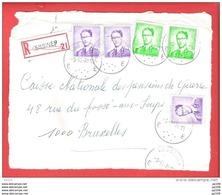 LESSINES E  Lunettes  Recommandé Aangetekend  Sur Dvt Lettre  9 XI 1970 - 1953-1972 Glasses