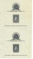 HAITI 1942 - NOSTRA SIGNORA PATRONA HAITI  - 2 FOGLIETTI DENTELLATO/NON DENTELLATO CON DIFETTI  -    MNH** - Haiti