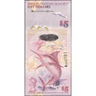 TWN - BERMUDA 58a - 5 Dollars 1.1.2009 Hybrid - Bermuda Onion Prefix - Signatures: Cossar & Simmons UNC - Bermuda