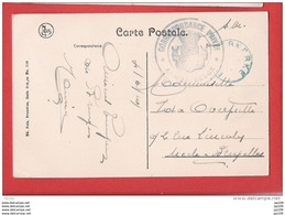 CP (Bruges) Obl Fortune  Bleue  ...ERKERKE 4 VI 19  Avec Sceau CORRESPONDANCE PRIVEE Armée Belge - Foruna (1919)