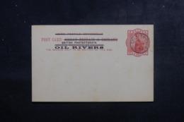 CÔTE DU NIGER - Entier Postal Type Victoria Surchargé British Protectorate Oil Rivers , Oblitération En 1892 - L 44783 - Nigeria (...-1960)
