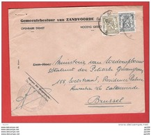 ZANDVOORDE  TP 419, 711 Petit Sceau 19 II 1948 Gunst Tarief GEMEENTEBESTUUR  Geopend Handtekening Vr Burgemeester - Covers & Documents