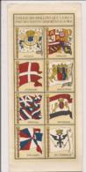 Carte Postale Double 10x22 Cm - Tableau Des Pavillons Que Les Nations Arborent à La Mer - Bateaux