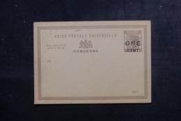 HONG KONG - Entier Postal Type Victoria Surchargé Non Circulé - L 44786 - Postal Stationery