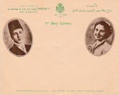 20.1.1938 - EGYPTE - Mariage De S.M. Bien Aimée FAROUK 1er, ROI D'ÉGYPTE - Historical Documents