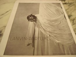 ANCIENNE PUBLICITE LANVIN-PARFUM 1932 - Perfume & Beauty