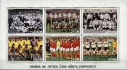 AZERBAIJAN, 1997, FRANCE, WORLD SOCCER CHAMPIONSHIP, YV#319-24, MS, MNH - Aserbaidschan