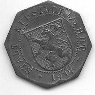 *notgeld   Neustadt A/d Haardt 5 Pfennig 1917   Zn  374.1b - [ 2] 1871-1918 : Empire Allemand