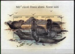 AZERBAIJAN, 1997, MARINE FAUNA, YV#346-51, MNH - Aserbaidschan