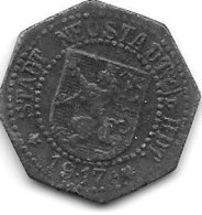 *notgeld   Neustadt A/d Haardt 10 Pfennig 1917   Zn  374.2c - Autres