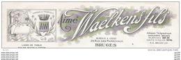 Ancienne Facture AImé WAELKENS Rue Des Maréchaux à BRUGES BRUGGE Linge Toile 1954 + Timbres Fiscaux - Belgique