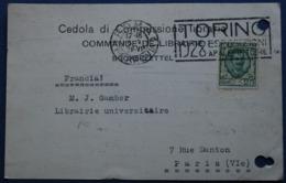 .Carte Commerciale.ROMA à PARIS.1928. - 1900-44 Vittorio Emanuele III