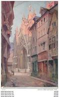 "2 CP  76 Rouen Collection Pittoreque "" Normannia"" N°4 Rue Malpalu Et N°2 Abside Notre-dame (H.VIGNET) - Rouen"