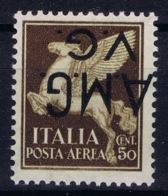 Italy: AMG-VG Sa Posta Aerea 1b Soprastampa Capovolta MH/* Flz/ Charniere Inverted Overprint Signiert /signed/ Signé - Ongebruikt