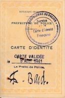 WW2 - CARTE D'IDENTITE VALIDEE En 1941 Par La Préfecture De Police - Documentos Históricos