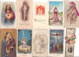 LOTTO N° 2 COMPOSTO DA 10 SANTINI O IMMAGINI RELIGIOSE DIVERSI - Religion & Esotericism