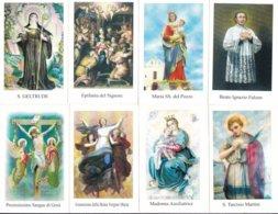 LOTTO N° 3 COMPOSTO DA 8 SANTINI O IMMAGINI RELIGIOSE DIVERSI SUL RETRO LE VARIE PREGHIERE - Religione & Esoterismo