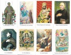 LOTTO N° 4 COMPOSTO DA 8 SANTINI O IMMAGINI RELIGIOSE DIVERSI SUL RETRO LE VARIE PREGHIERE - Religione & Esoterismo