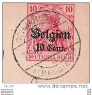 EP  Obl à Pont Allemande  SCHAERBEEK 11 IV 1917 Vers Amerfoort Hollande + Censure - WW I