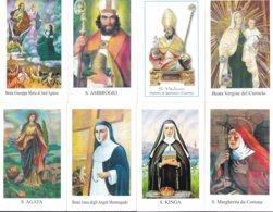LOTTO N° 5 COMPOSTO DA 8 SANTINI O IMMAGINI RELIGIOSE DIVERSI SUL RETRO LE VARIE PREGHIERE - Religione & Esoterismo