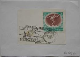Poland Pologne Polen Special Postmark Central Tourist Meeting Réunion Centrale De Tourisme Bieszczady Rzeszow 1962 - Sin Clasificación