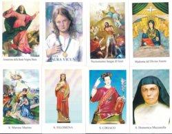 LOTTO N° 6 COMPOSTO DA 8 SANTINI O IMMAGINI RELIGIOSE DIVERSI SUL RETRO LE VARIE PREGHIERE - Religione & Esoterismo