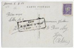 1943 - PRISONNIERS POLITIQUES OU JUIFS - CP Du CAMP De La POLICE NATIONALE De ST SULPICE Avec AFFR. PETAIN 60c (5 MOTS) - Marcophilie (Lettres)
