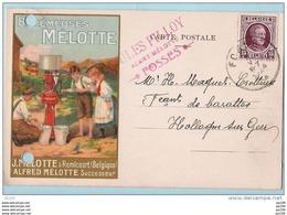 REMICOURT - Ecrémeuses MELOTTE - Carte Postale Publicitaire - Obl FOSSES Jules Pilloy - Perfos - Belgique