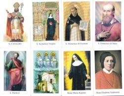 LOTTO N° 9 COMPOSTO DA 8 SANTINI O IMMAGINI RELIGIOSE DIVERSI SUL RETRO LE VARIE PREGHIERE - Religione & Esoterismo