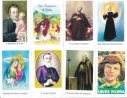LOTTO N° 10 COMPOSTO DA 8 SANTINI O IMMAGINI RELIGIOSE DIVERSI SUL RETRO LE VARIE PREGHIERE - Religione & Esoterismo
