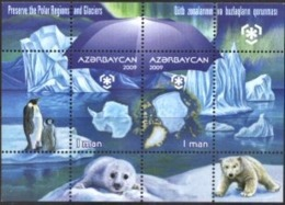 AZERBAIJAN, 2009, PRESERVE THE POLAR REGIONS, FAUNA, YV#B.79, MNH - Aserbaidschan
