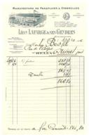 Facture Manufacture Parapluies Ombrelles Léon Lafarge & Ses Gendres, Angers (adressée à Nîmes ) - 1900 – 1949