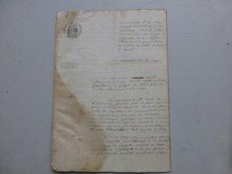 79 MELLE 1860, NOBLESSE Procès Restauration Patronyme Martin-de-Bessé, TOP  Ref 809  ; PAP08 - Documents Historiques