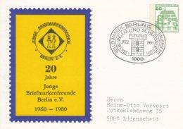 PP 82/10  20 Jahre Junge Briefmarkenfreunde Berlin E.V., 1960 - 1980, Berlin 12 - [5] Berlin