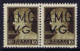 Italy: AMG-VG Sa  1 Pair 1x Broken G In VG MH/* Flz/ Charniere - Ongebruikt
