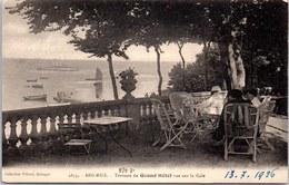 29 BEG MEIL - Terrasse Du Grand Hotel Vue Sur La Cale. - Beg Meil