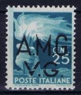 Italy: AMG-VG Sa 13 Broken G In VG MH/* Flz/ Charniere - Ongebruikt