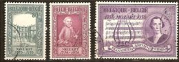 Belgie Belgique 1956 OCBn° 987-989 (°) Oblitéré Used Cote 7,50 Euro Mozart - Used Stamps