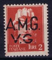 Italy: AMG-VG Sa 9 Broken G In VG MH/* Flz/ Charniere - Ongebruikt