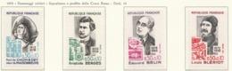 PIA - FRANCIA - 1972 : Personaggi Celebri. Sovrattassa A Favore Della Croce Rossa   -  (Yv 1706-09) - Primo Soccorso