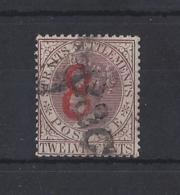 "MALAYA....SRAITS SETTLEMENTS.""...QUEEN VICTORIA..(1837-01)....8c ON 12c.....SG80......(CAT £500....)...USED...... - Straits Settlements"