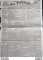 Journal LA PRESSE Du 14 AVRIL 1848 - GOUVERNEMENT PROVISOIRE - EX-PRINCIPAUTE DE MONACO - Newspapers