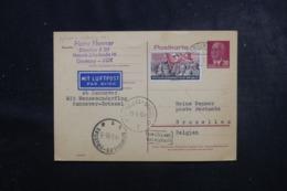 ALLEMAGNE - Entier Postal + Complément De Berlin Pour Bruxelles Par Vol Hannover / Bruxelles En 1955 - L 44802 - Postkarten - Gebraucht